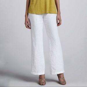 Eileen Fisher white linen pants